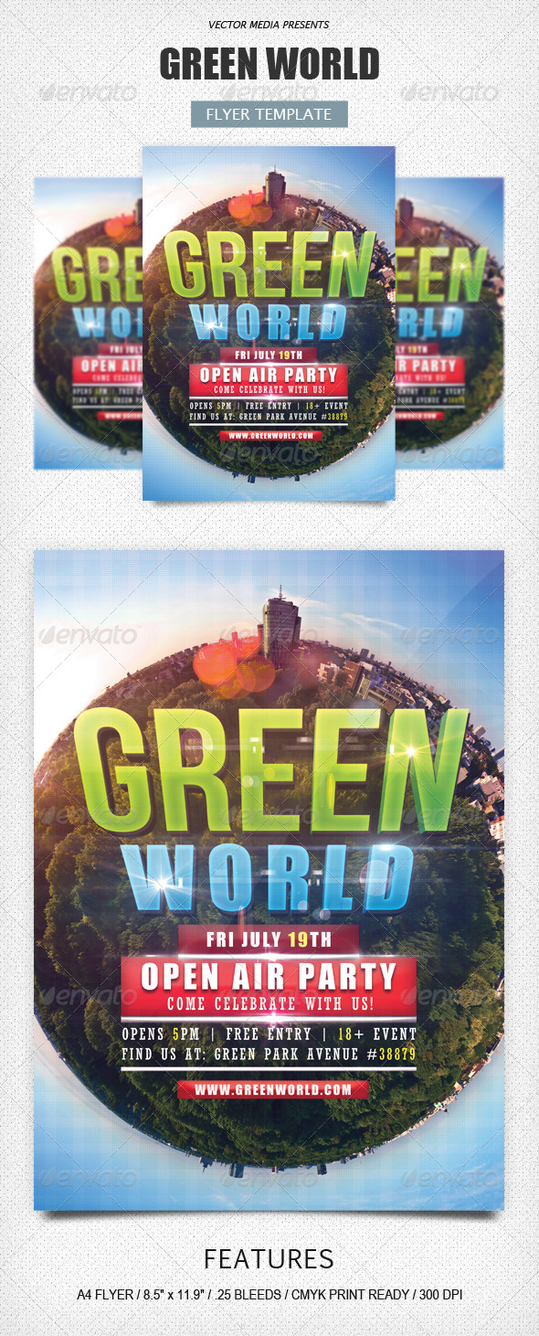 GraphicRiver Green World Flyer 4899626