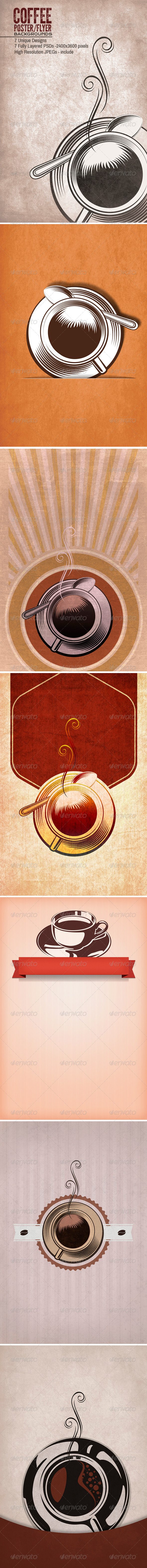 GraphicRiver Coffee Tea Poster Flyers Backgrounds 4960899