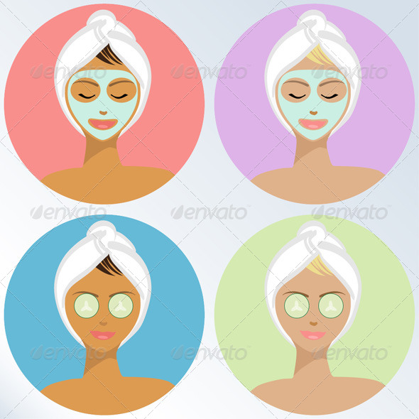 GraphicRiver Young Woman At The Spa Vector Illustration 4960928