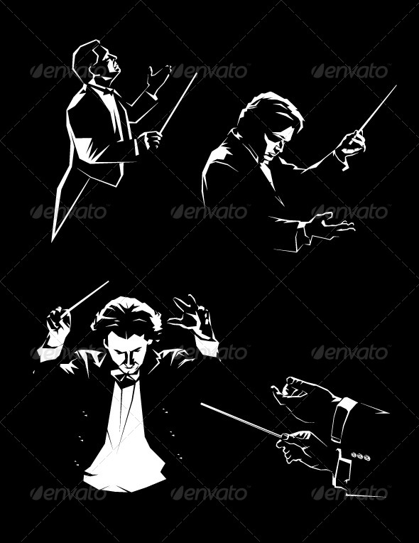 GraphicRiver Silhouette of the Orchestral Conductor 4960930