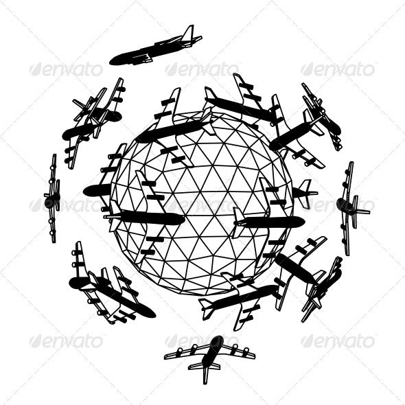 GraphicRiver Globe with Airplane 4961168