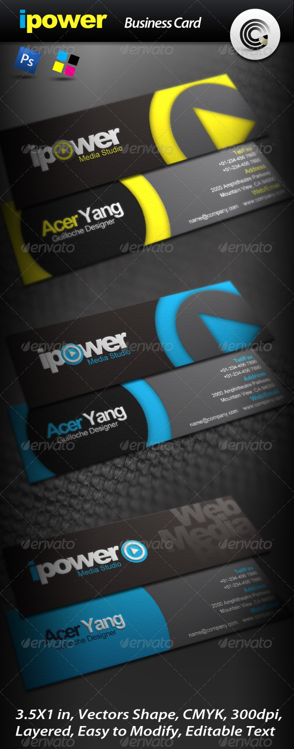 GraphicRiver Ipower Media Studio Business Card 511792