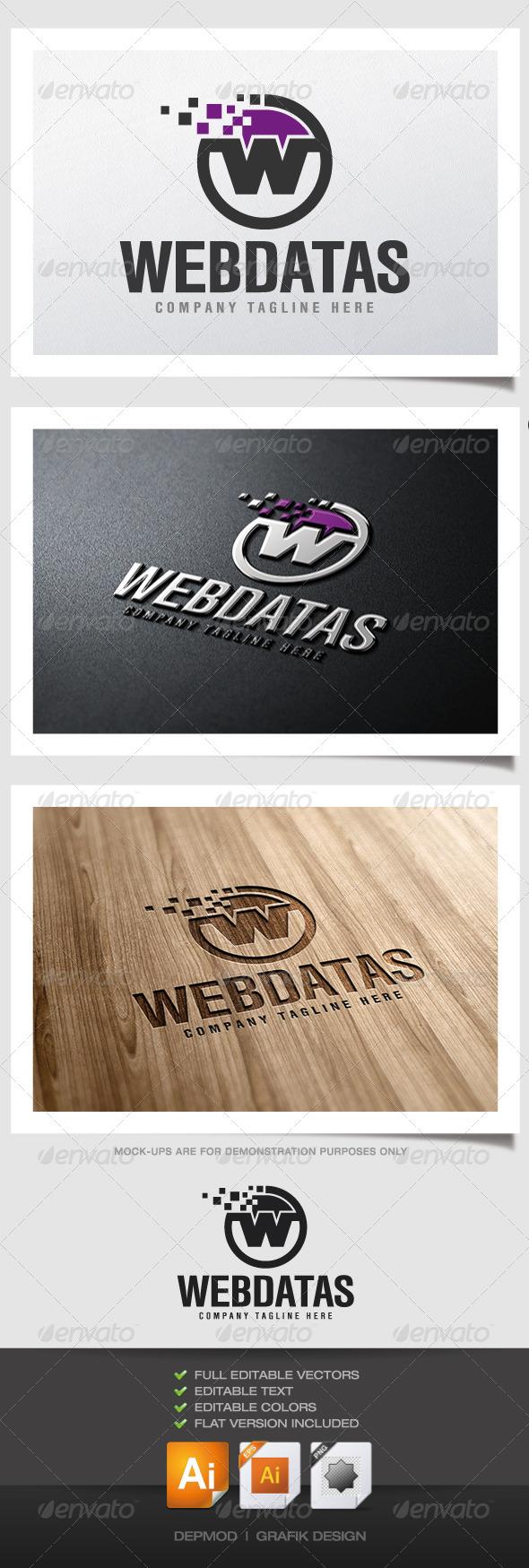 Web Datas Logo - Letters Logo Templates