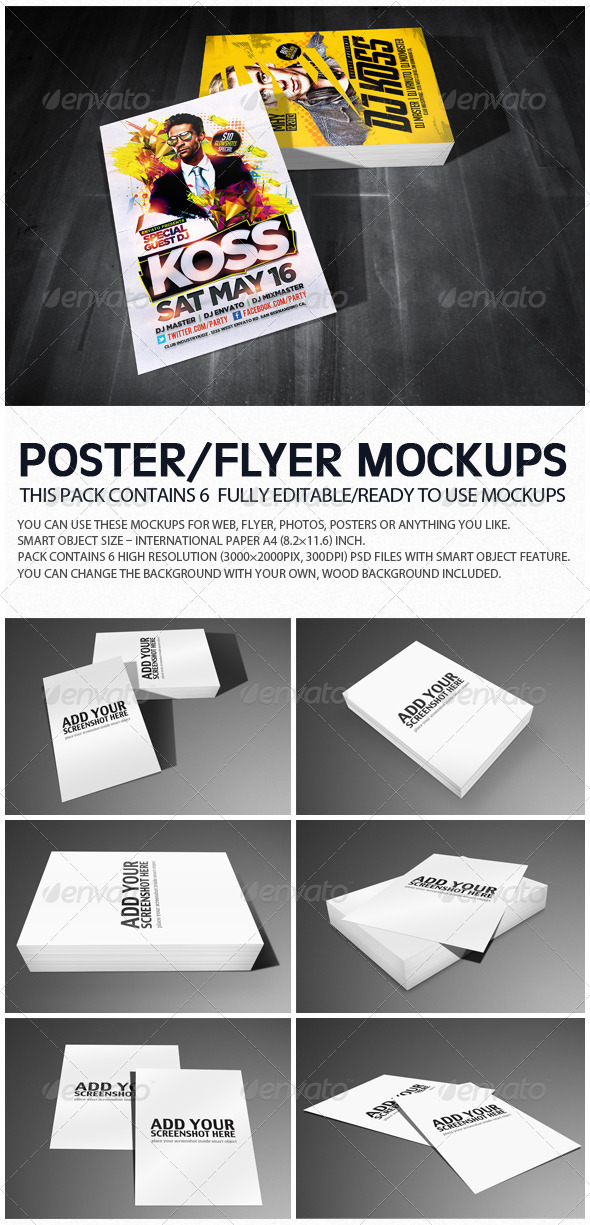 Flyer Poster Mockups - Flyers Print