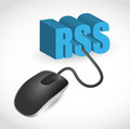 rss sign connected to mouse illustration design