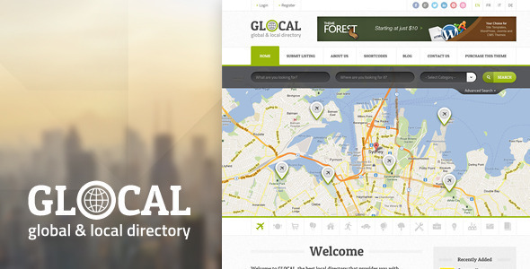 ThemeForest Glocal Responsive Directory Template 4949656