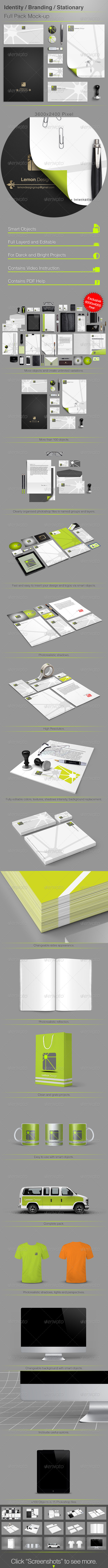 GraphicRiver Identity Branding Stationery Full Pack Mock-up 4946652