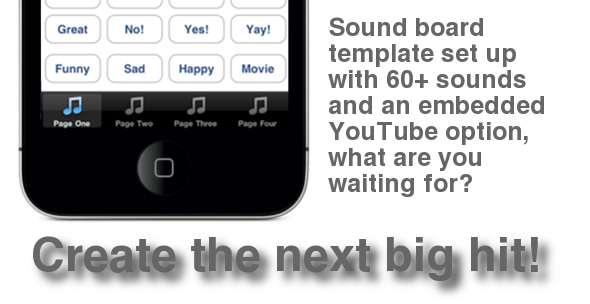 CodeCanyon Sound Board Tab Bar Template for iPhone iPad 512017
