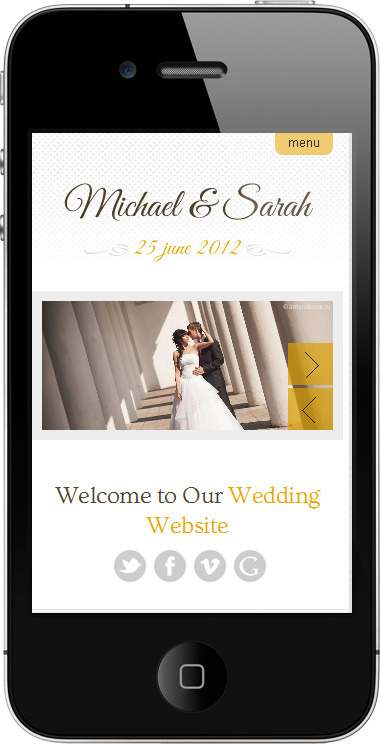 Marriage - Responsive Wedding Wordpress Theme - ��mobile page preview