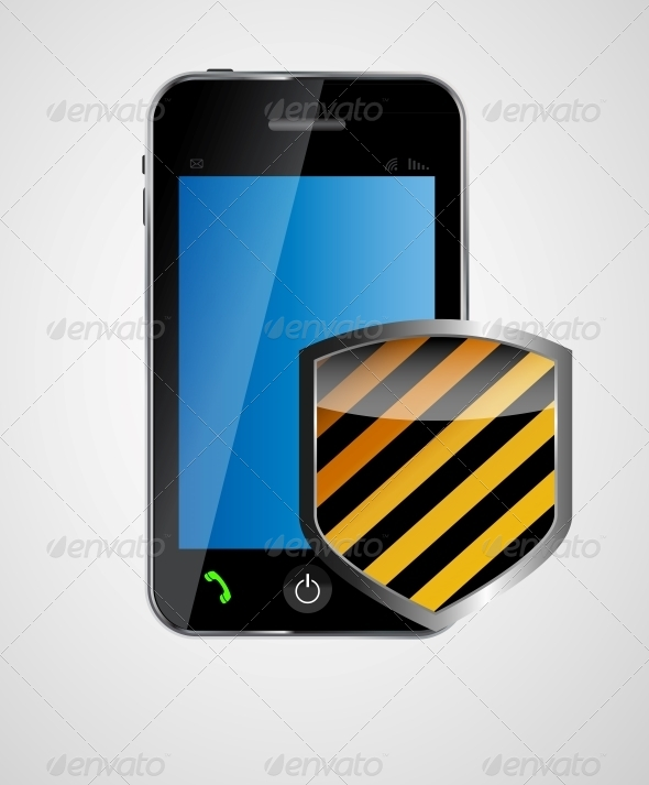 GraphicRiver Security Phone Concept Vector Illustration 4963030