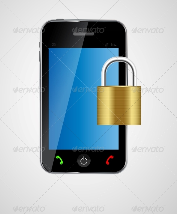 GraphicRiver Security Phone Concept Vector Illustration 4963037
