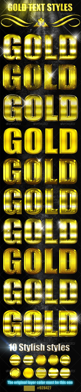 GraphicRiver 10 Elegant Gold Styles 4964167