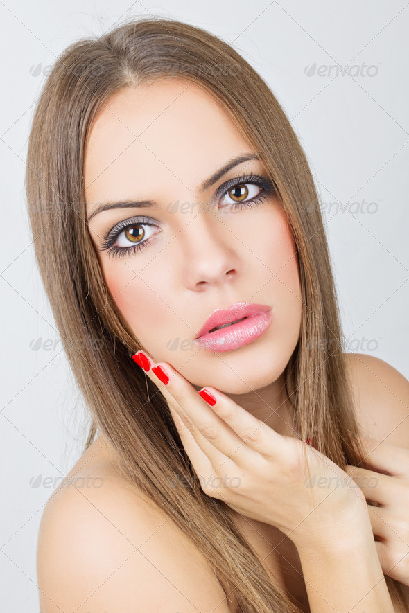 Perfect skin and subtle makeup - Stock Photo - Images