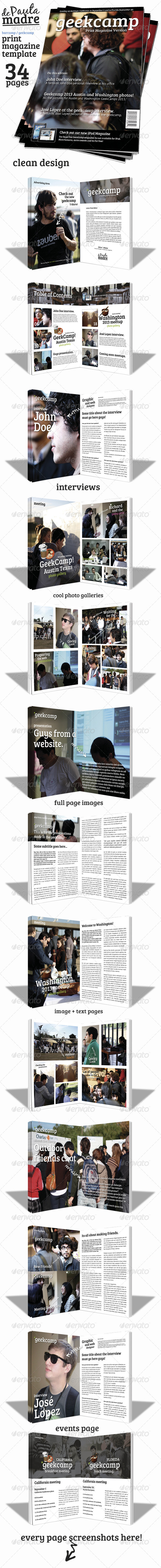 GraphicRiver Barcamp-Geekcamp Magazine Template 4964231