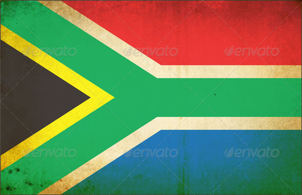 GraphicRiver Grunge Dirty South African Flag 4964249