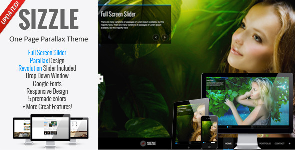 Sizzle - OnePage Responsive Parallax Theme