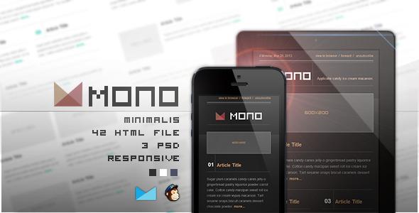 Mono - Responsive E-mail Template
