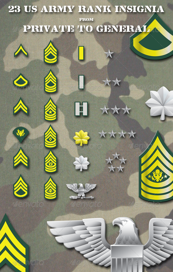 GraphicRiver US Army Rank Insignia 4950671