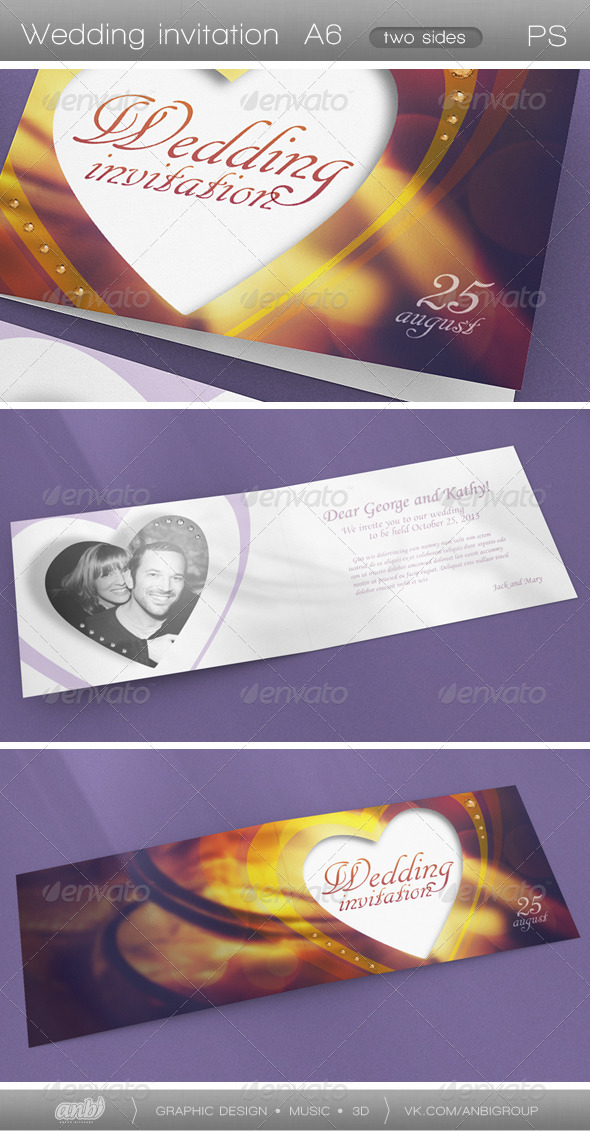 GraphicRiver Wedding Invitation 4965718