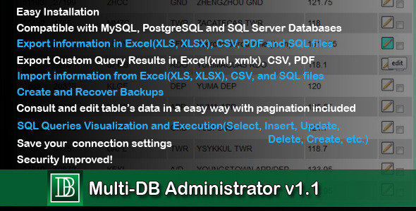 Multi - DB Administranto v1.0 - WorldWideScripts.net Item por Vendo
