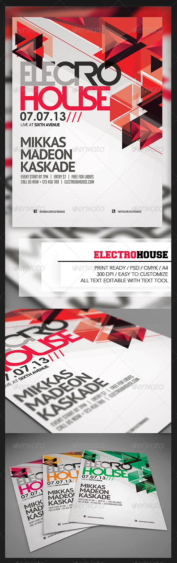 GraphicRiver Electro House Flyer 4897610