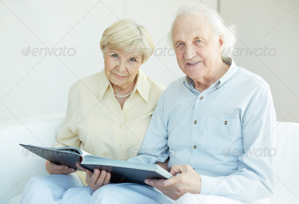 Seniors at home - Stock Photo - Images