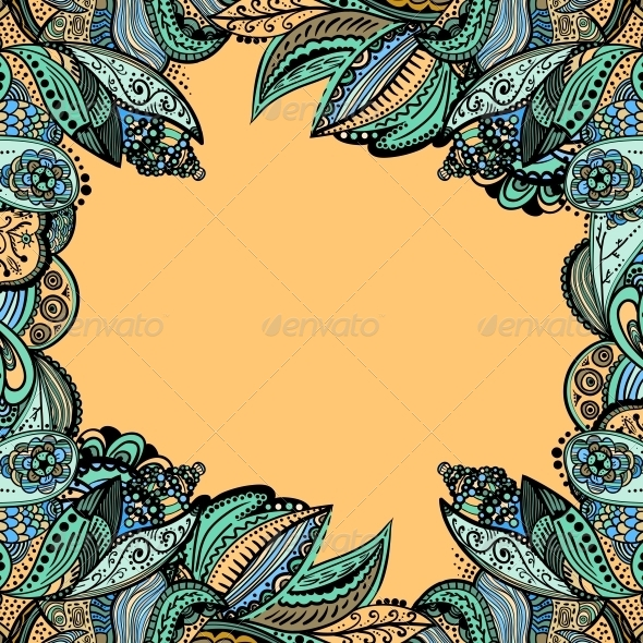 GraphicRiver Vector Vintage Floral Pattern 4966668