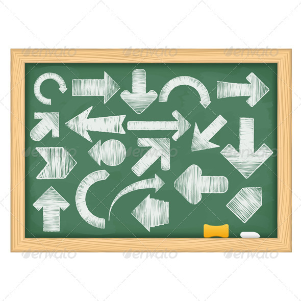 GraphicRiver Hand Drawn Arrows 4966796