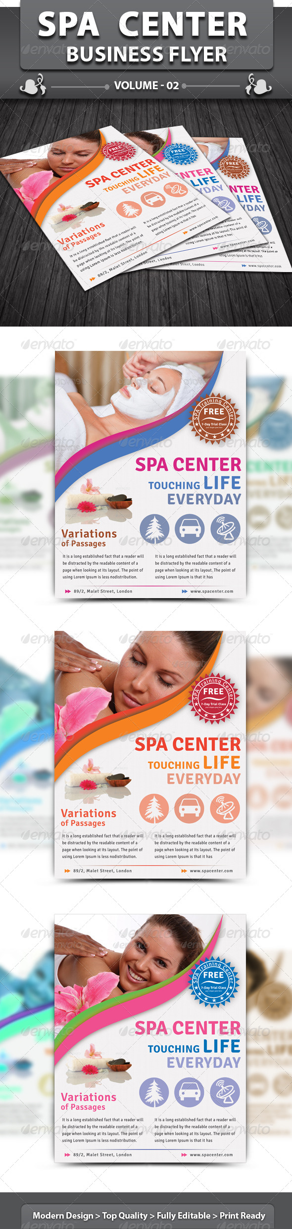 Spa & Beauty Saloon Flyer | Volume 6 - Corporate Flyers