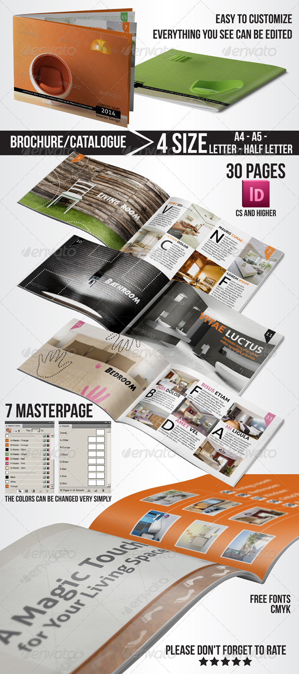 GraphicRiver Multi-Purpose Interior Design Brochure Catalogue 4900839