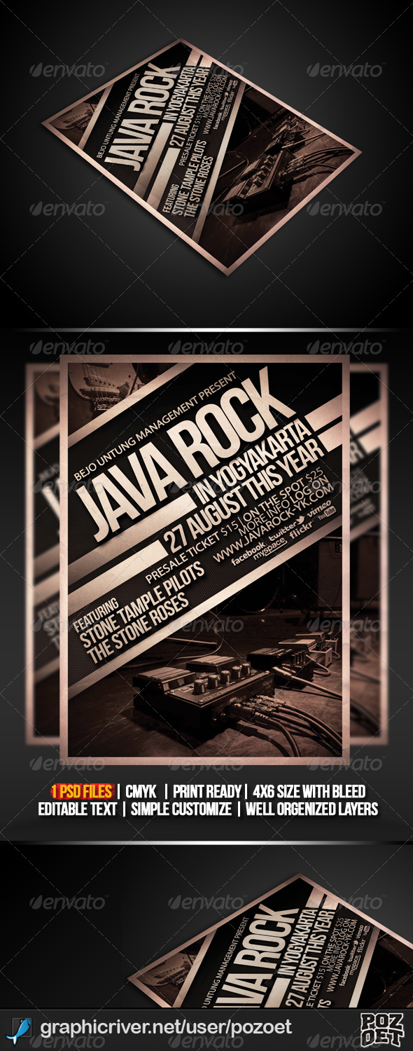 GraphicRiver Java Rock Flyer Poster Template 4967471