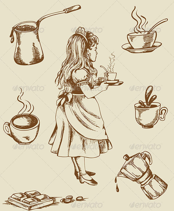 GraphicRiver Vintage Tea and Coffee 4967619