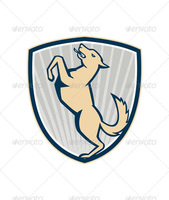 GraphicRiver Prancing Dog Side Shield 4967627