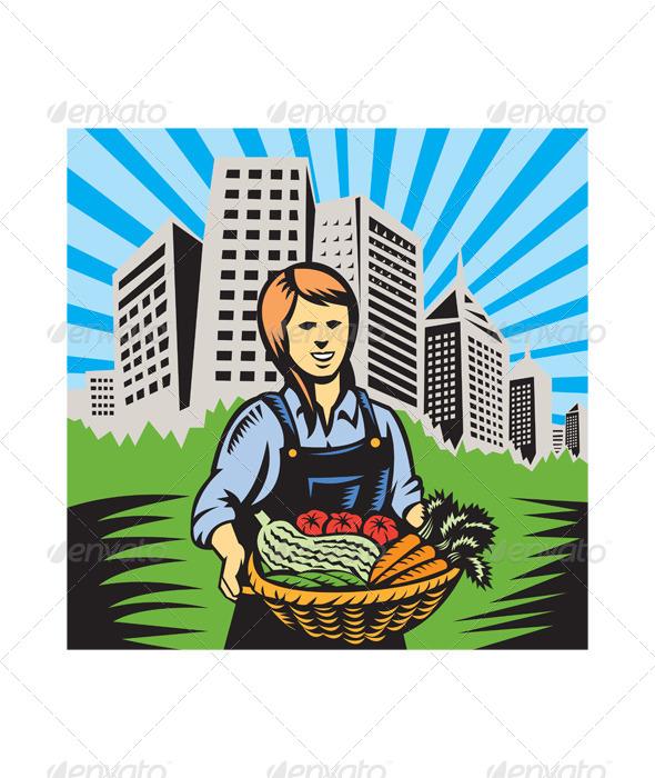 GraphicRiver Female Organic Farmer 4967634
