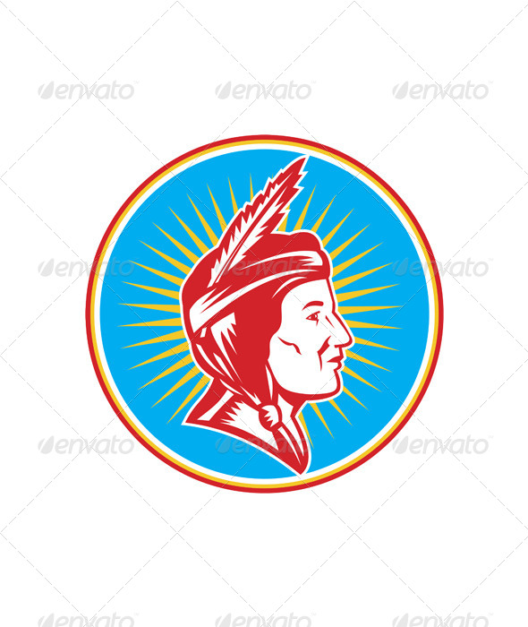 GraphicRiver Native American Indian Squaw 4967661