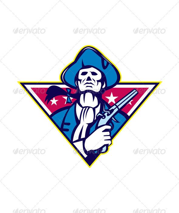 GraphicRiver American Patriot Minuteman Flint 4967685