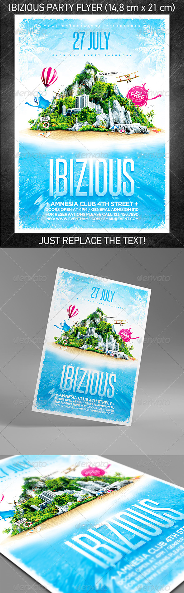 GraphicRiver Ibizious party flyer 4967711