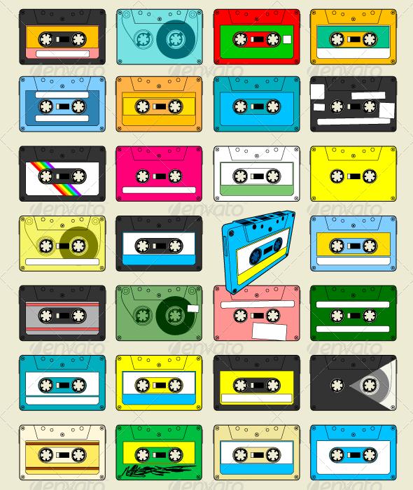 GraphicRiver Audio Cassette Tape Wallpaper 4967716