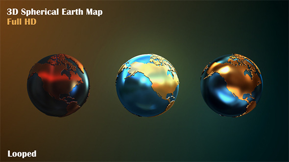 3D Spherical Earth Map