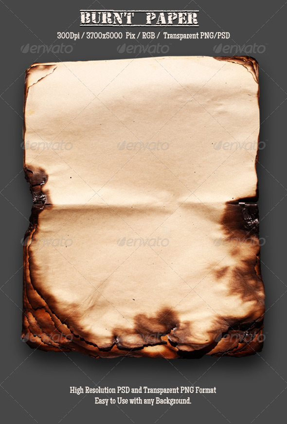 GraphicRiver Burnt Old Paper 15 4968145