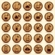 Wood WiFi Icons - GraphicRiver Item for Sale