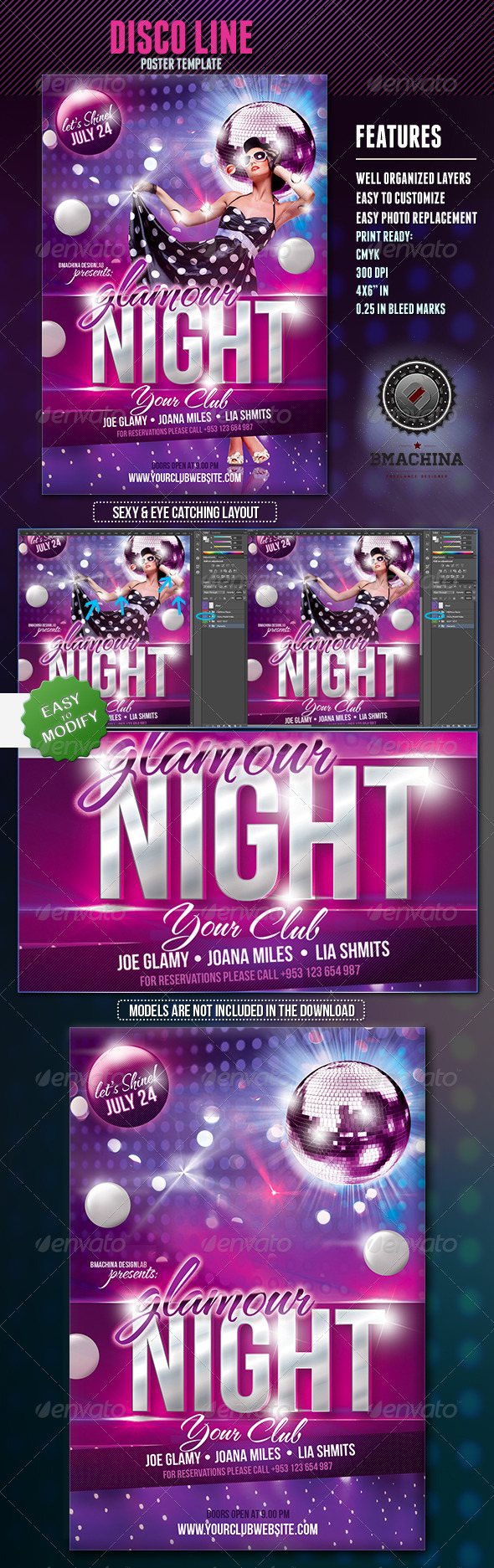 GraphicRiver GlamourNight Flyer Template 4968429