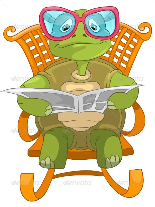 GraphicRiver Turtle Reading 4968617
