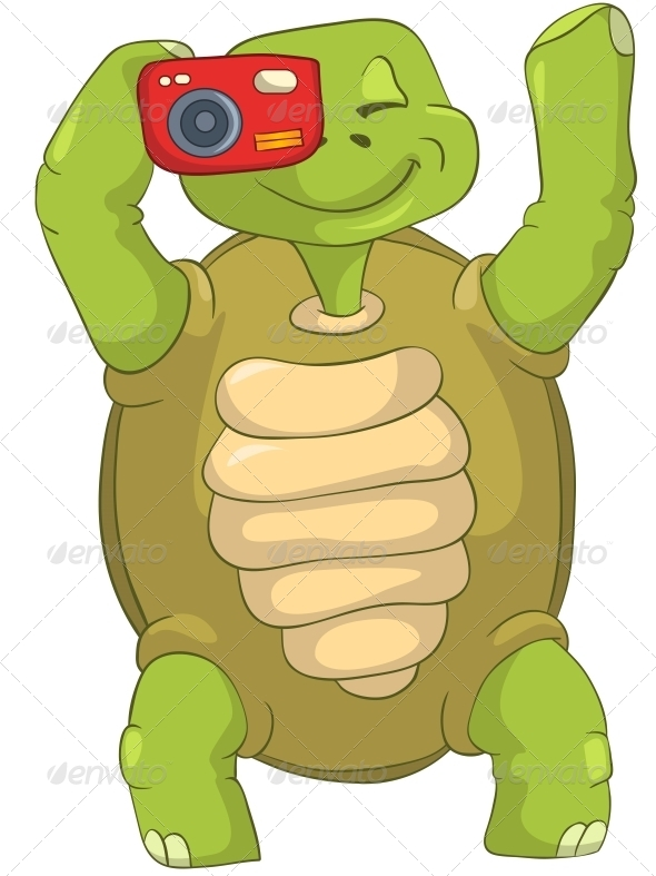 GraphicRiver Turtle Tourist Photographer 4968635