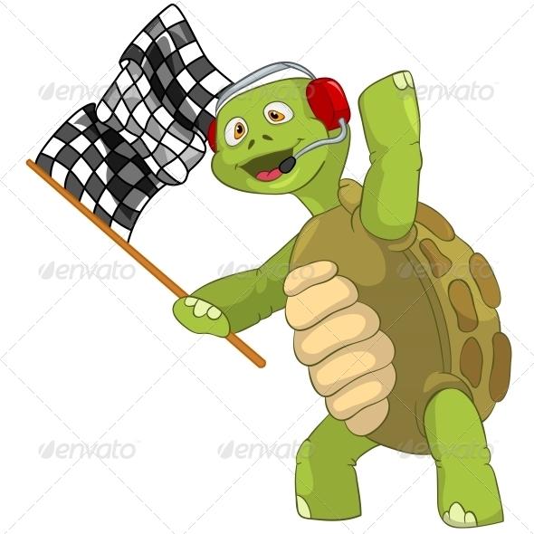 GraphicRiver Turtle Race Finish 4968649