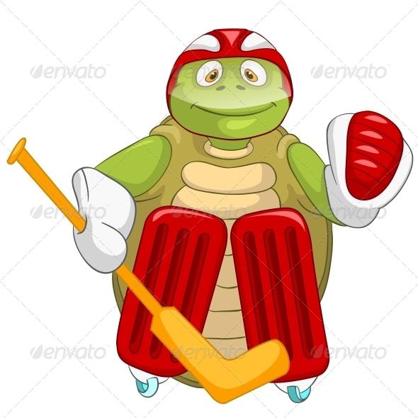 GraphicRiver Turtle Hockey Goalie 4968656