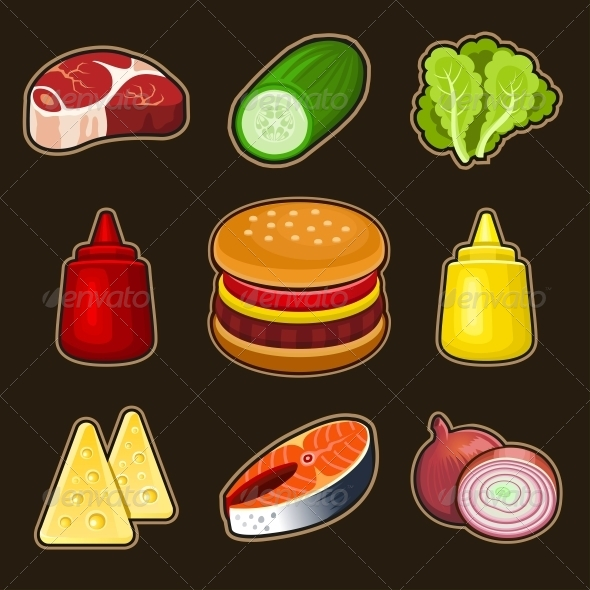 GraphicRiver Burger Icons Set 4968671 Created: 15