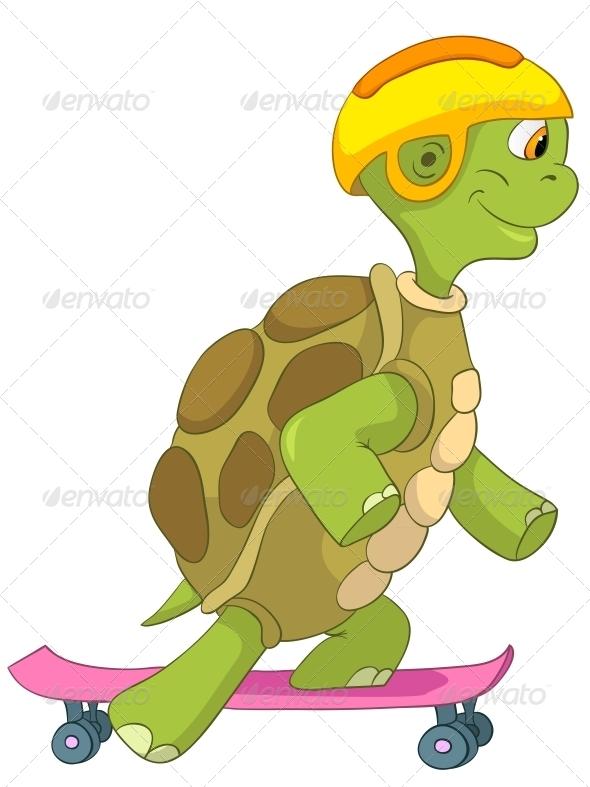 GraphicRiver Turtle Skateboarding 4968675