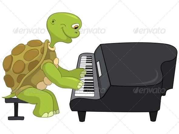 GraphicRiver Turtle Pianist 4968734