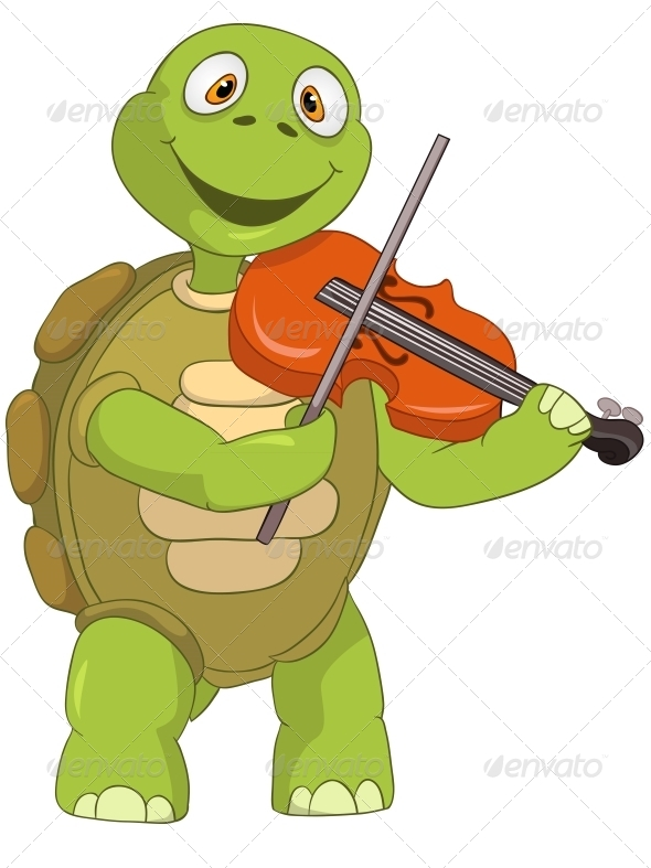 GraphicRiver Turtle Violinist 4968754